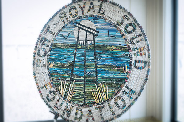 Recycled art at the Port Royal Sound Maritime Center